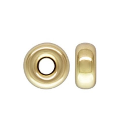 14k Gold Filled 4mm Roundel Spacer Beads 10pcs