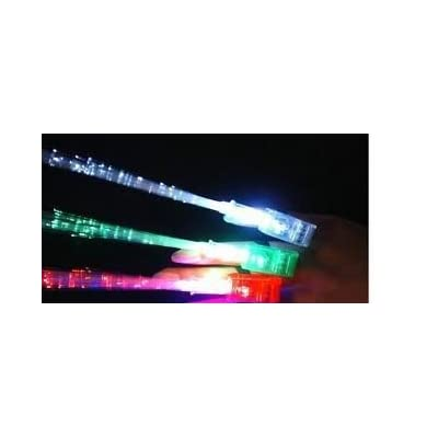 Flashing Panda Fiber-Optic LED Finger Ring Rave Flashlights, 5 Cards of 4 Lights - 20 Lights Total: Toys & Games