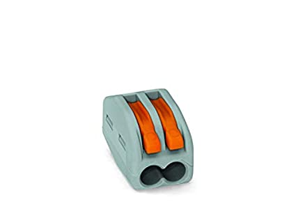 Wago 222-412 Divisor de señal para cable coaxial Gris cable divisor y combinador - Splitter/Combinador de cables (Divisor de señal para cable coaxial, ...