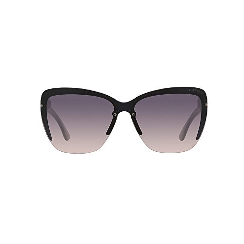 (Tom Ford - POPPY FT 0457, Cat Eye, acetate, women, DARK GREY/SMOKE SHADED(20B N), 67/10/135)