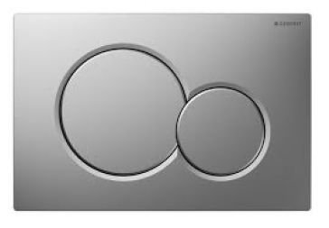 Geberit 115.770.46.5 Dual-Flush Actuator Plate, Matte Chrome by Geberit