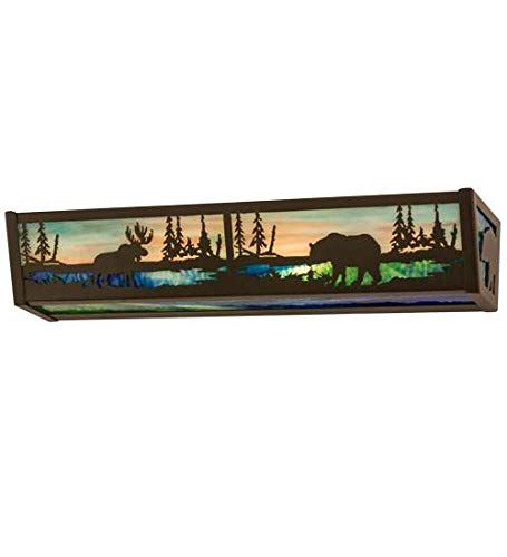 - 24 in. Moose and Black Bear Vanity Light