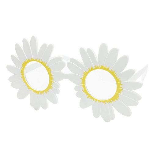 (UltimaFio(TM) Funny White Daisy Flower Costume Glasses Women Wedding Photo Booth Props Accessories Night Events Party Supplies)