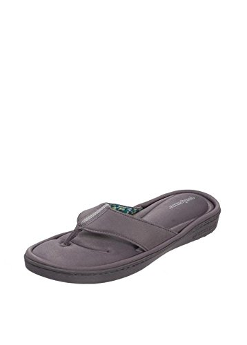 9d14662bbfe4f0 Dearfoams Active Flip Flop with Memory Foam Grey Small UK India 3-4