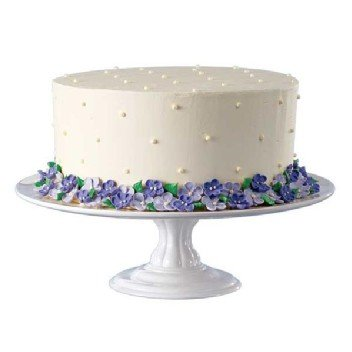 Wilton White Ceramic Pedestal Cake Stand  sc 1 st  Amazon.com & Amazon.com: Wilton White Ceramic Pedestal Cake Stand: Kitchen u0026 Dining