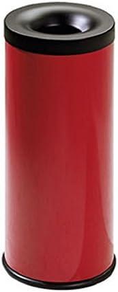 stilcasa Gettacarta Pattumiera autoestinguente Inox Satinato-Litri 15 in Ferro Dim 25x25xh35