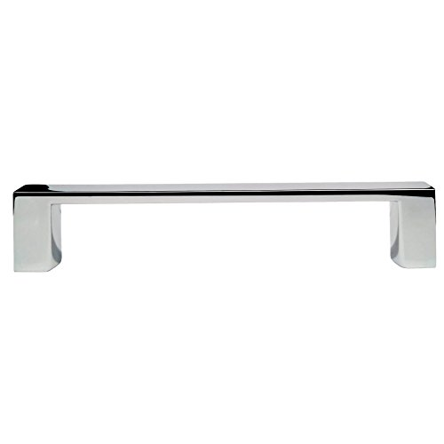 Richelieu Hardware - BP1076140 - Contemporary Metal Pull - 107 - 4 in - Chrome  Finish