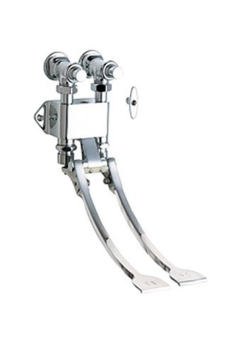 Chicago Faucets 834-EPCP Wall Mount Double Pedal Valve, Chrome