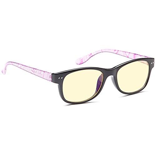 AV Classic Style Optical Quality Glasses Frames Prescription Ready Rx-able Rx Grooved Eyeglasses w Anti UV400 Anti Glare Black - Gunnar Rx