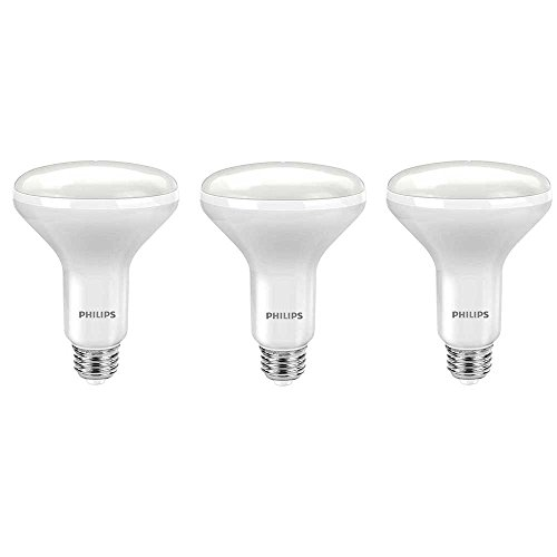 Philips LED 464198 65 Watt Equivalent Soft White Dimmable BR30 LED Light Bulb, 3 Pack, Piece