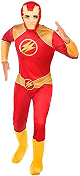 DISBACANAL Disfraz de Flash para Hombre - -, XL: Amazon.es ...