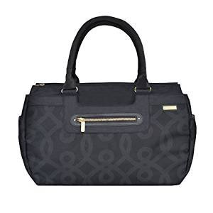JJ Cole Parker Diaper Bag, Black and Gold