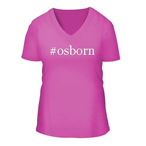 #Osborn - A Nice Hashtag Women's Short Sleeve V-Neck T-Shirt Shirt, Fuchsia, Large
