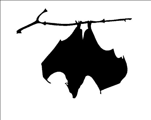 Hanging Bat....Halloween Wall Decal Vinyl Sticker Removable Graphic 13