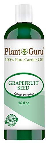 Grapefruit Seed Oil 16 oz Cold Pressed 100% Pure Natural Carrier - Skin, Body And Face. Great For Moisturizing Creams, Lotions, Scalp Treatments, and Lip Balms