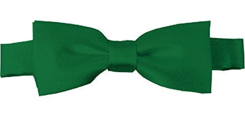 - NYFASHION101 Boys' Kids' Childrens' Solid Color Adjustable Pre-Tied Bow Ties, Kelly Green