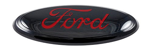 Ford 9 Front Grille Or Back Tailgate Emblem Black Red Peel Stick