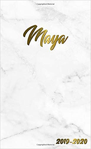 Maya 2019-2020: Pretty Personal Marble & Gold Two-Year ...