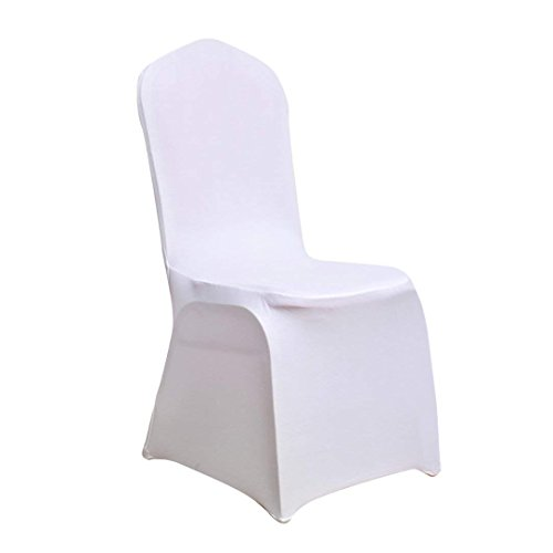 Juvale Banquet Chair Covers - 20-Piece Set of White Foldable Chair Covers, Modern Folding Chair Slipcovers for Weddings, Formal Events, Chair Decorations