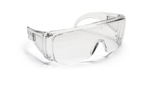 SAS Safety 5120 Worker Bee Safety Glasses with Polybag, Solid Clear Frame/Clear Lens