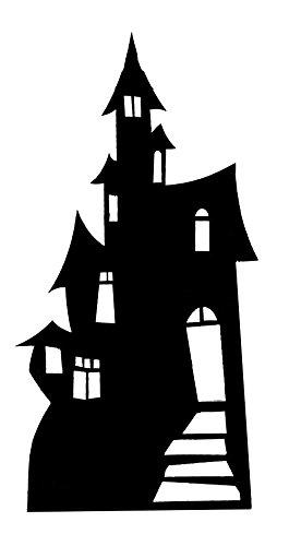 AmerTraders Ritaglio di Cartone Silhouette casa infestata - 98 cm