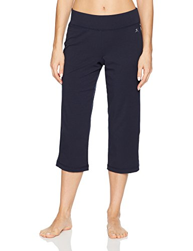 - Danskin Women's Plus Size Sleek Fit Yoga Crop Pant, Midnight Navy, L