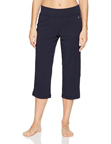 (Danskin Women's Plus Size Sleek Fit Yoga Crop Pant, Midnight Navy S)