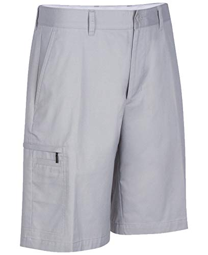 Greg Norman for Tasso Elba Men's 5 Iron Performance Golf Shorts (Silver, 30)