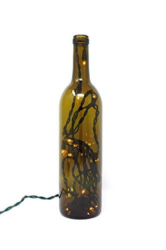 Bordeaux Lamp - Antique Green Bordeaux Wine Bottle Lamp Home Decor