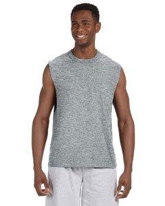 Men's sleeveless HiDensi-T t-shirt. (Athletic Heather) (Small)
