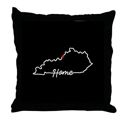 Pattebom Home Decor Kentucky Home Louisville Canvas Pillow Covers 18 x 18 Decorative Farmhosue Decor Throw Pillows with Zip Couch Cushion Covers Funny Gifts