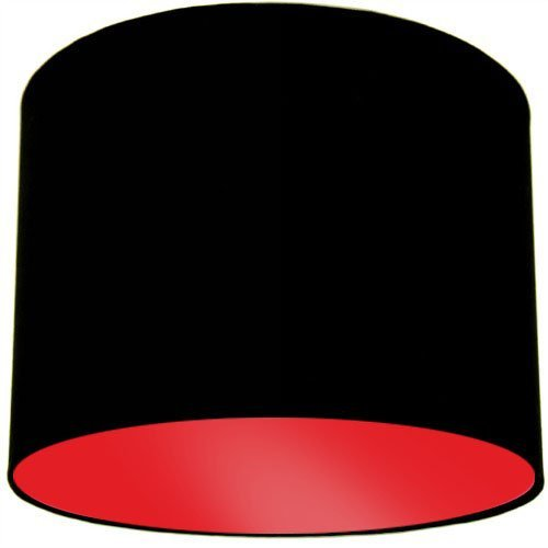 Black Ceiling Lamp Shade with Red Lining