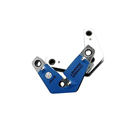 BE-TOOL Magnet Clamp Magnetic Welding Holder Multi Angle Corner Positioner Clamp Set for Assembly Welding and Pipes Installation Blue Pack of 2