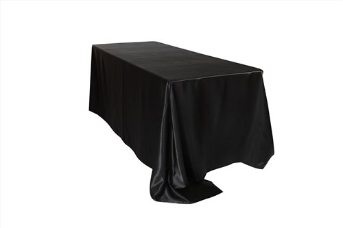 Your Chair Covers   90 X 132 Inch Rectangular Satin Tablecloths Black,  Rectangle Shiny Satin Table Linens For 6 Ft Rectangular Tables Awesome Design