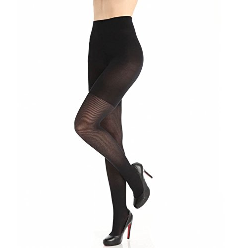 - SPANX Women's Ribbed Tight End Tights, Black, D