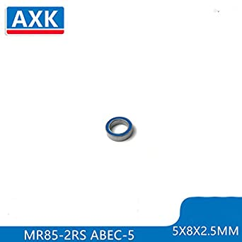 4PCS Blue Rubber Seals Ball Bearings 5x8x2.5mm MR85 2RS ABEC-3