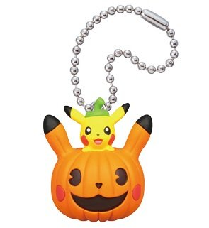 Pokemon Pikachu Halloween Figure Swing Keychain~Inside (Eevee Halloween)