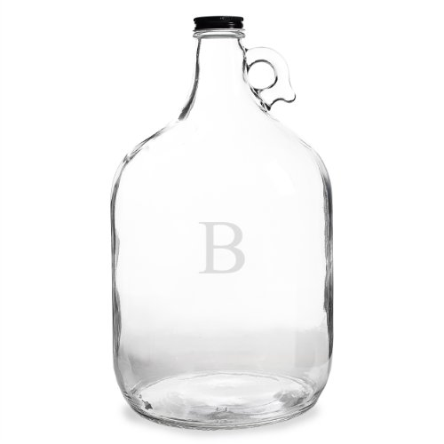 Cathy's Concepts Personalized One Gallon Growler, Letter (128 Oz Jug)