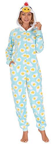 Body Huggable (Body Candy Women's Plush Adult Animal Hood Onesie Pajama (RoosterEggs, Large))