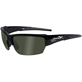 d3cb7347c07 Wiley X WX Saint Glasses Polarized Smoke Green Lens Gloss Black Frame