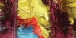 Bernat  Boa Yarn   - 3.5 oz -    Bright Glitter   -  Fun Party Yarn  For Crochet, Knitting & Crafting