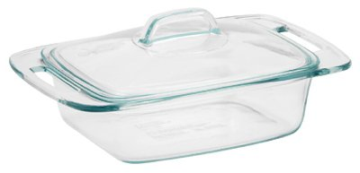 (Pyrex 1085801 2 Quart Glass Easy Grab Casserole Bakeware With)