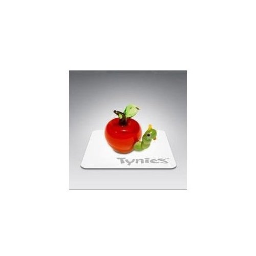 Tynies Animals Eat - Worm In Apple * Colors May Vary * Glass Figure ()