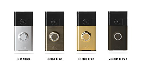 Ring 88RG003FC000 Wi-Fi Enabled Video Doorbell in Antique Brass, Works with Alexa