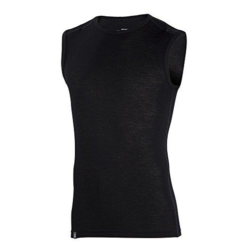 Ibex Outdoor Clothing Men's Woolies 1 Sleeveless Top, Black, Small