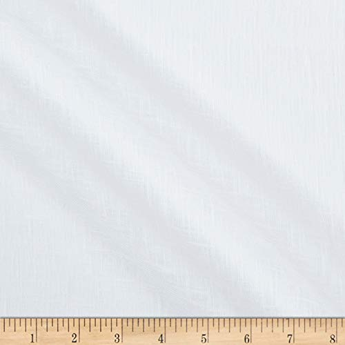 Quality Linen 118'' Sheer Scrim White, Fabric by the -