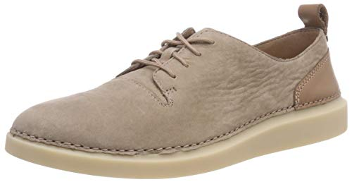 Mujer Nubuck Clarks Para taupe Hale Lace Zapatillas Beige qS0qwx