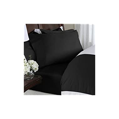 Hotel Luxury Bed Sheets Set-SALE TODAY ONLY! On Amazon-Top Quality Softest Bedding 1800 Series Platinum Collection-100%!Deep Pocket, Wrinkle & Fade Resistant(Queen,Black)