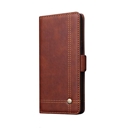 Note 9 Case Galaxy Wallet,TACOO Premium Leather Cover Kickstand Credit Card Slot Magnet Fold Protection Brown Phone Shell for Samsung Galaxy Note 9 2018 (Verus Case Note 3 Card)