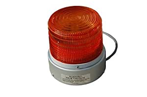 110 Volt Strobe Light - Permanent Mount - 88 Flashes p/ Minute (-Red)